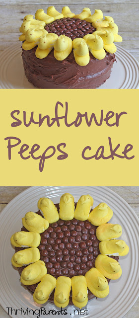 This sunflower Peeps cake couldn't be a cuter or easier cake!