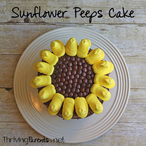 This sunflower Peeps cake couldn't be a cuter or easier cake! It's perfect for spring or summer.
