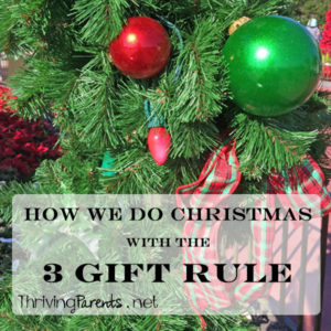 Will you buy your kids equal number of gifts or spend equal amounts of money? We keep the focus of Christmas on Jesus with the 3 gift rule.