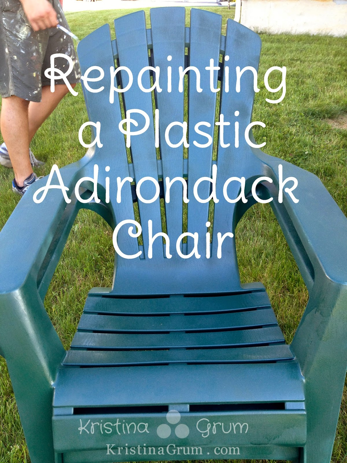 In The Spring We Were Getting Ready To Put Our Plastic Adirondack Chairs  Out In The Yard After Being Put Away For The Winter. As We Pulled Them Out,  ...