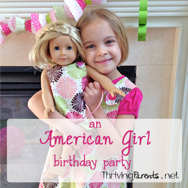 This American Girl birthday party was made perfect with tiny paper products and tiny food!