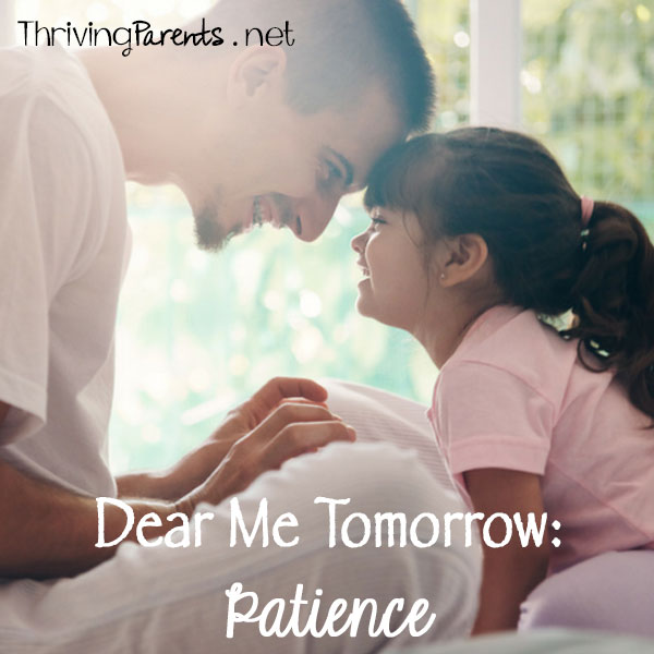 Being patient is hard but is important because our kids won't always be watching.