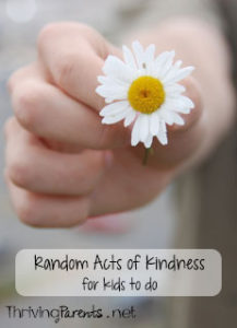 Teaching our kids to do Random Acts of Kindness teaches them empathy, compassion, and thoughtfulness. Here's a printable list of activities your children can do for others and the people who would be great recipients.