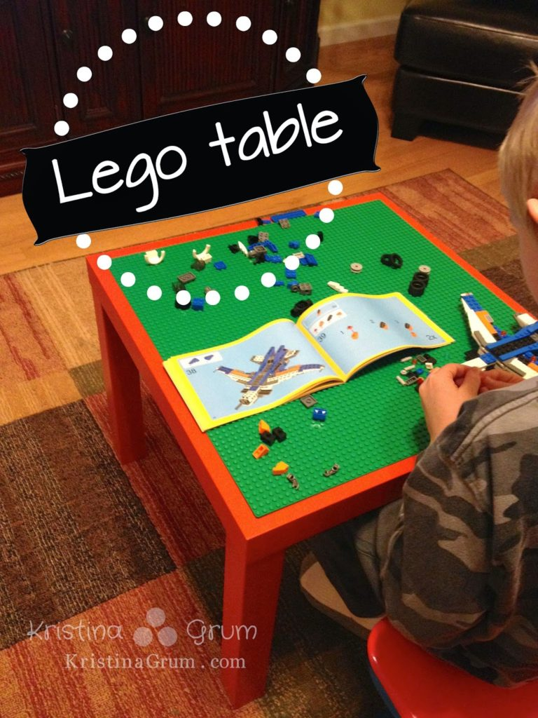 make your own lego table thriving parents. Black Bedroom Furniture Sets. Home Design Ideas