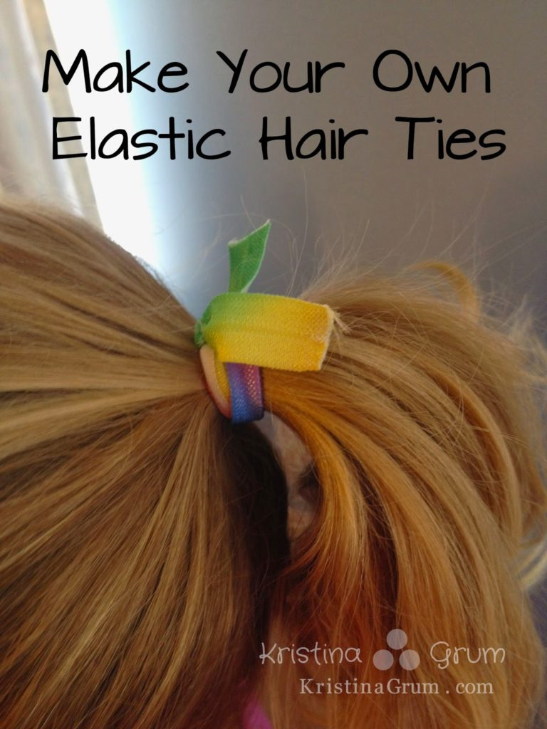 These elastic hair ties are so easy to make and a fraction of the price of the ones at the store.