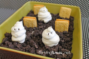 This is a fun dessert for Halloween that is easily made gluten free by using Schar cookies.