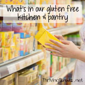 Becoming gluten free was a challenge for our pantry and refrigerator. Here is a list of gluten free items we ALWAYS have in our house.