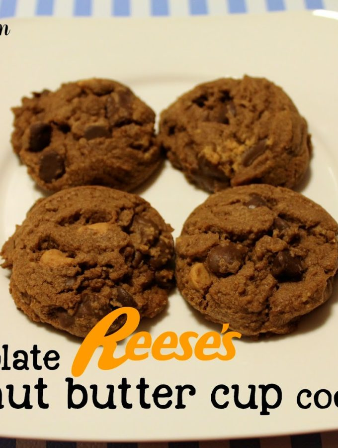 Recipe:  Gluten Free { or not } Chocolate Reese's Peanut Butter Cup Cookies