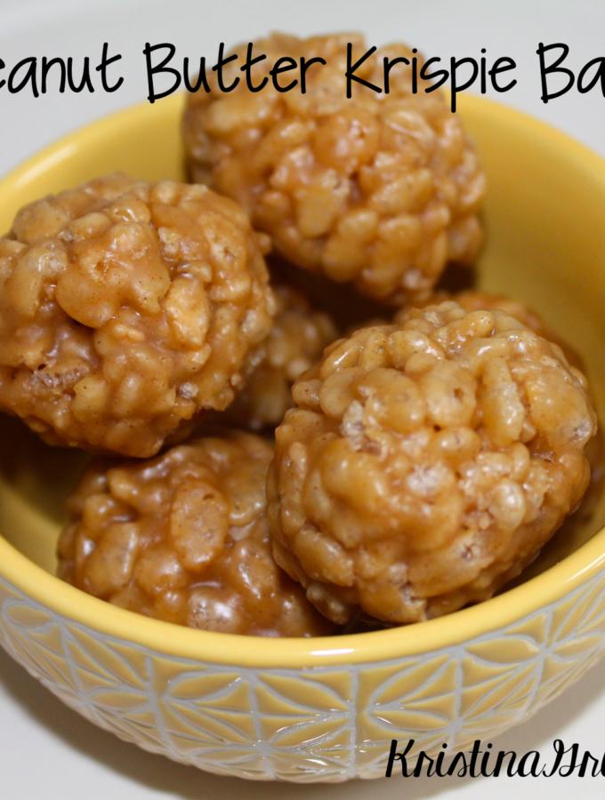 Recipe:  Peanut Butter Krispie Balls