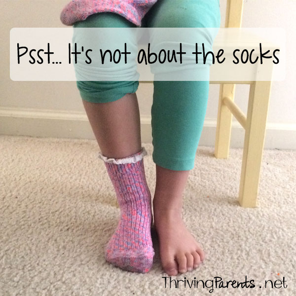 Psst… It's not about the socks