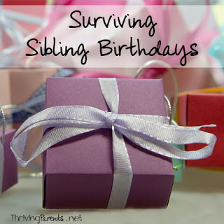 When a sibling has a birthday, it's almost a guarantee that one of the children will have a hard time. Here are some tips to surviving sibling birthdays.