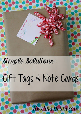 Gift Tags & Note Cards – Simple Solutions