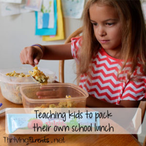 Want to get your kids to pack their own lunch? Teach them how to! It's empowering for them and they'll take ownership in it.