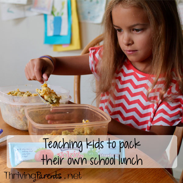 Teaching kids to pack their own school lunch