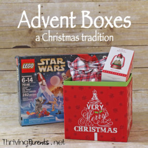 """-box-to-start-celebrating-Christmas.jpg"""" alt=""""Advent boxes are a fun way to get kids excited about the season of Advent. They're filled with a fun, necessity, and tradition."""