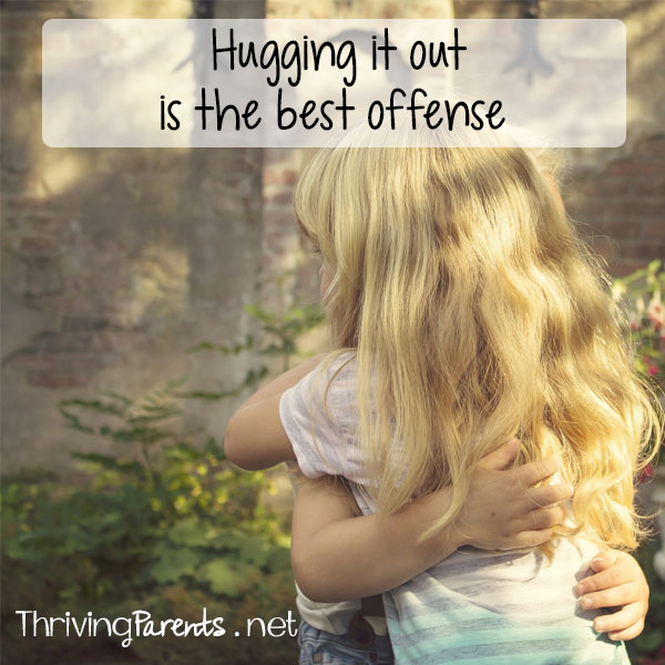 Hugging it out is the best offense and our favorite way of dealing with big emotions