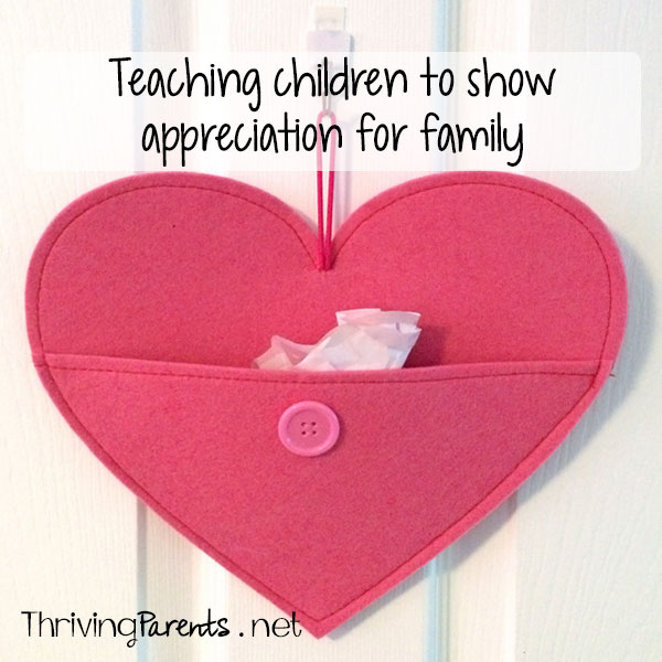 Teaching kids to show appreciation for family