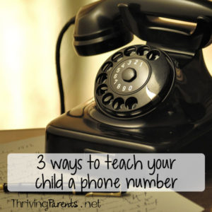 Teaching your child a phone number can be challenging. Make it easier by using one of these 3 ways.