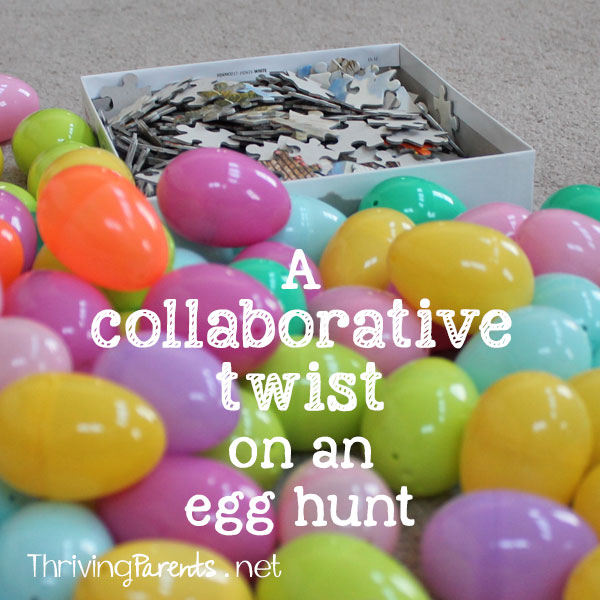 A collaborative twist on an egg hunt