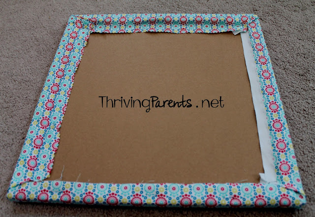 I never knew making your own Fabric Covered Cork Board was so easy and cheap!