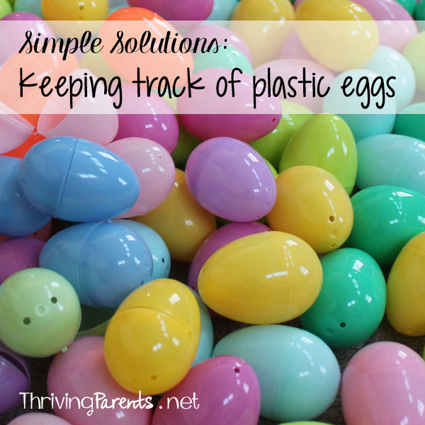 Keeping track of plastic eggs – Simple Solutions