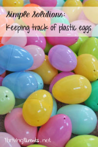 It's egg hunt season and this Simple Solution will help you keep track of all the plastic eggs to make sure the kids have found them all.