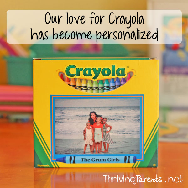 Our love for Crayola has become personalized