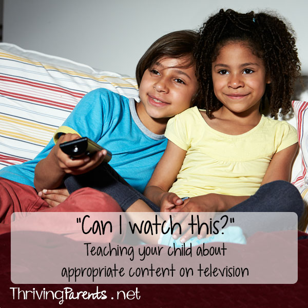 """Can I watch this?"" – Teaching your child about appropriate content on television"