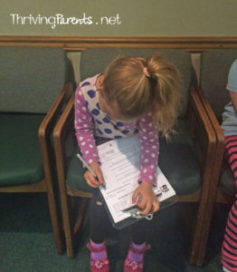 If your child can write their name, they can be filling out their forms at the doctor's office Here's why...