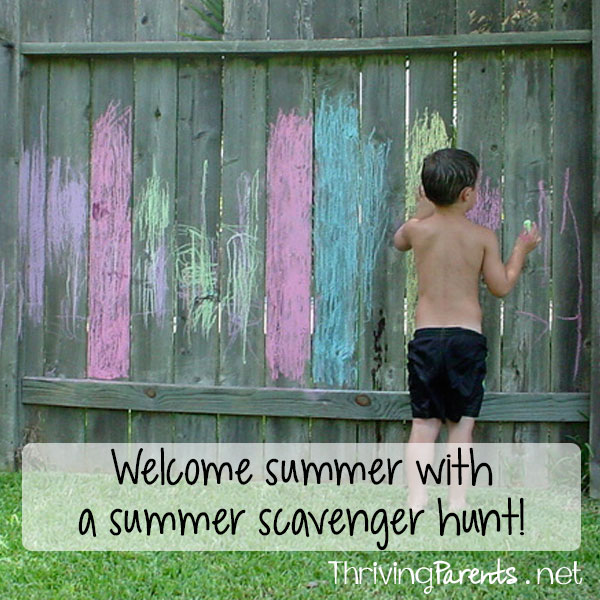 Welcome summer with a Summer Scavenger Hunt!