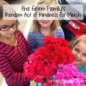 Our family has completed March's Random Acts of Kindness! What can you do for someone this month?