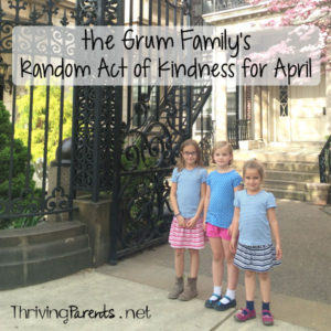Our family has completed April's Random Acts of Kindness! What can you do for someone this month?