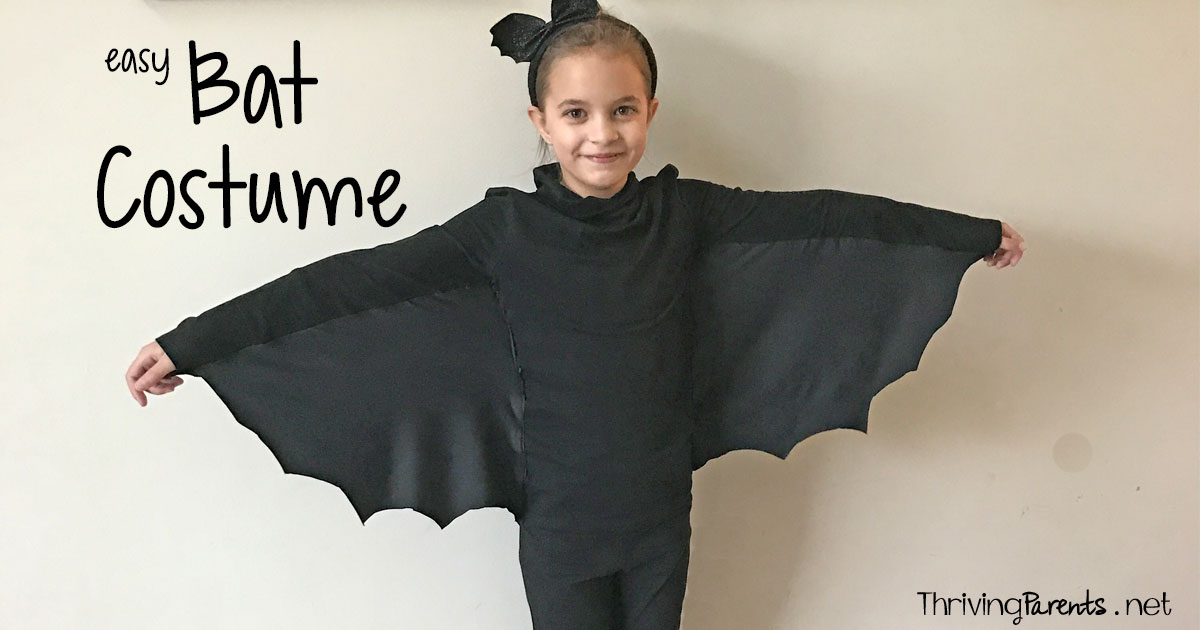 Make your own quick and easy bat costume thriving parents solutioingenieria Choice Image
