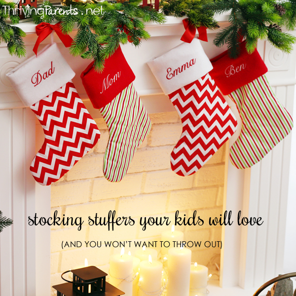 Stocking stuffers your kids will love (and you won't want to throw out!)
