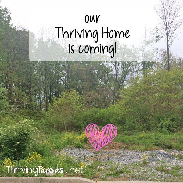 Our Thriving Home is finally becoming a reality! Read about how we finally decided between building and buying an existing house.